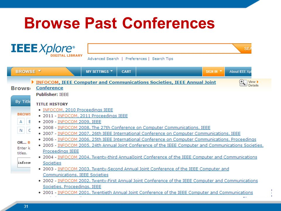 Browse Past Conferences