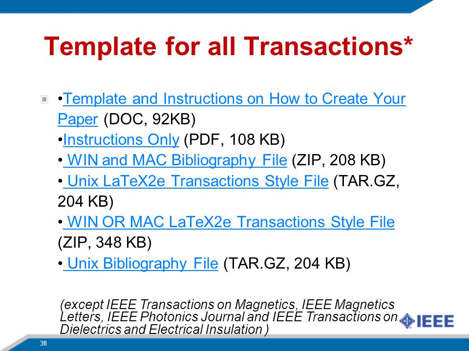 Template for all Transactions*
