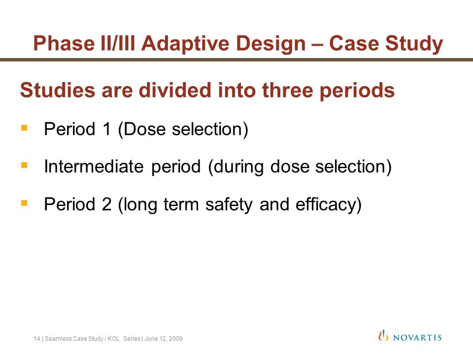 Phase II/III Adaptive Design – Case Study
