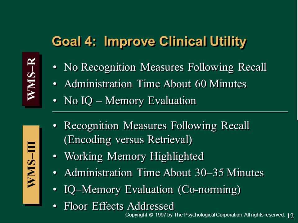 Goal 4: Improve Clinical Utility