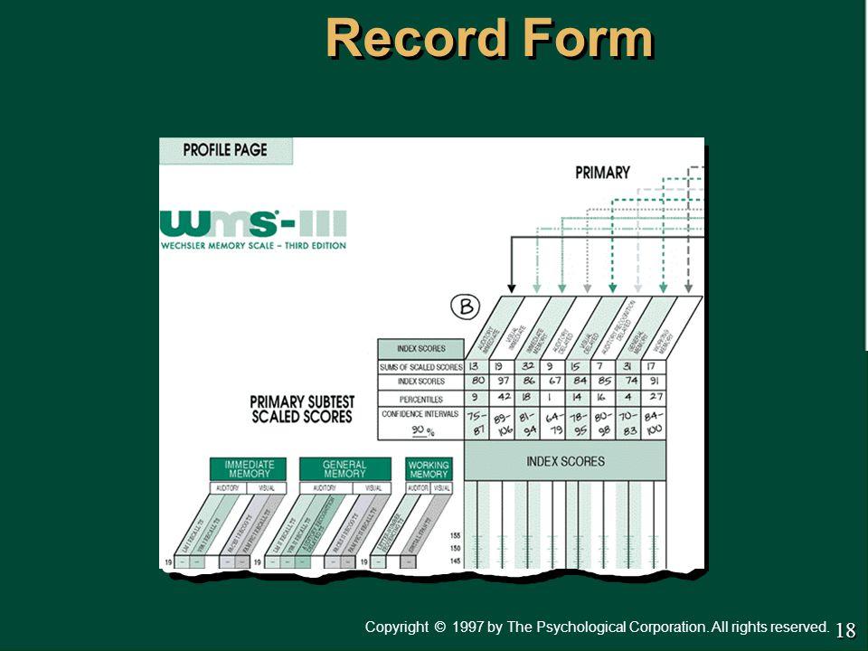 Administration & Scoring Manual