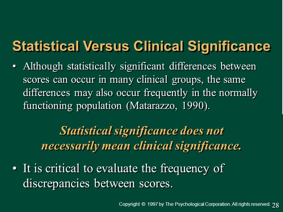 Statistical Versus Clinical Significance