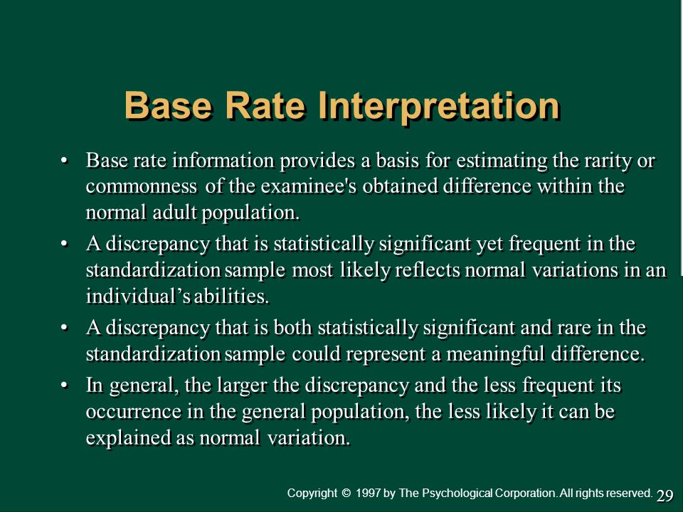 Base Rate Interpretation