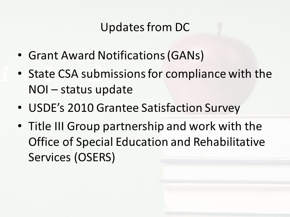 Grant Award Notifications (GANs)