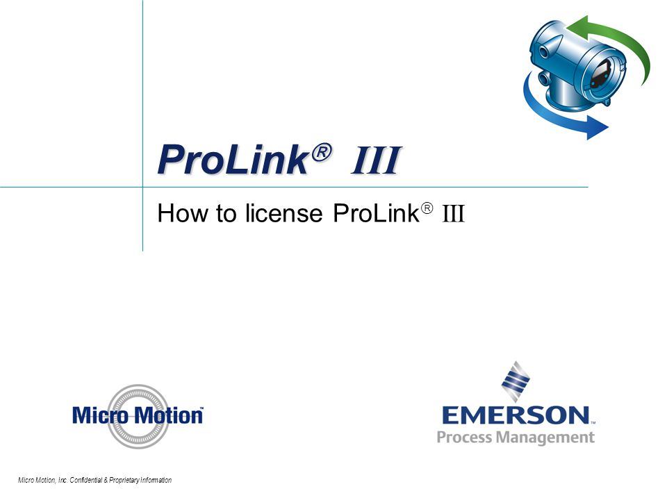 How to license ProLink III