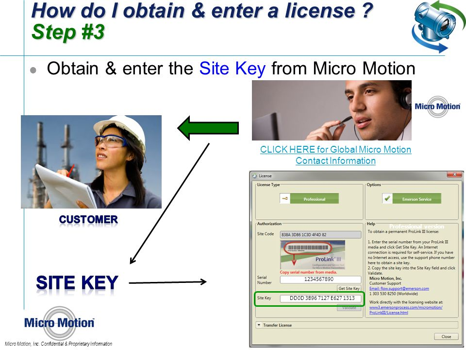 How do I obtain & enter a license Step #3