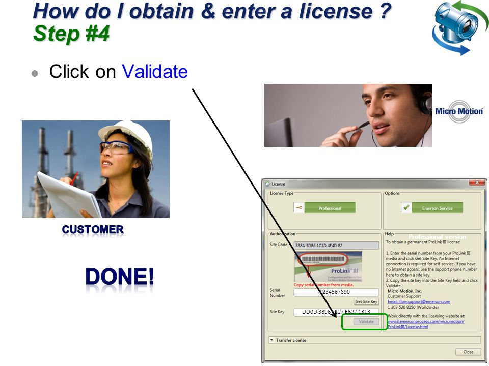 How do I obtain & enter a license Step #4