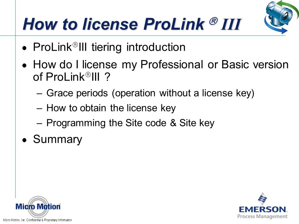 How to license ProLink  III