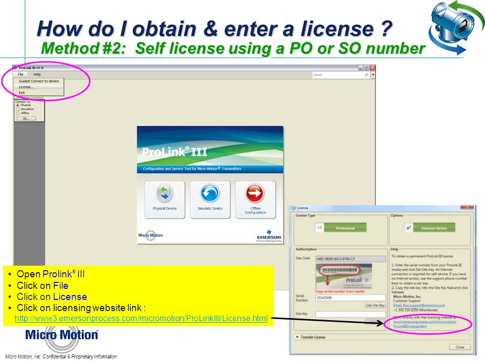 How do I obtain & enter a license