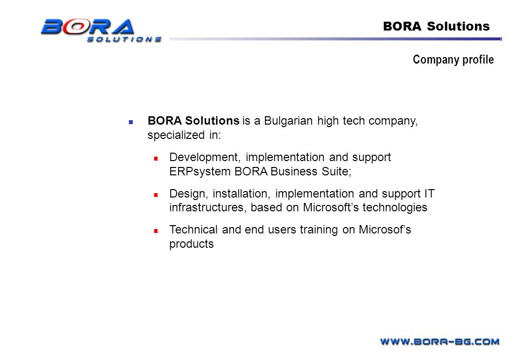 BORA Solutions Company profile