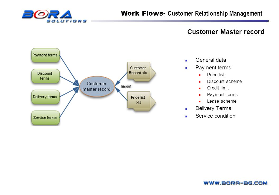 Customer Master record