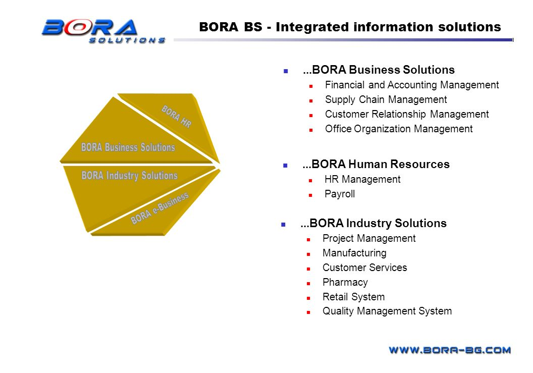 BORA BS - Integrated information solutions