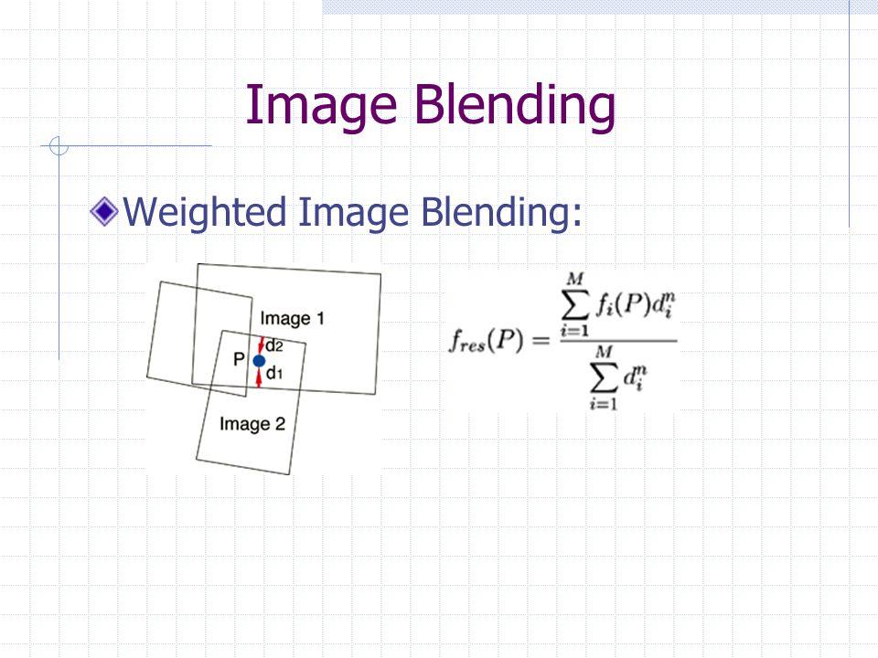 Image Blending Weighted Image Blending: