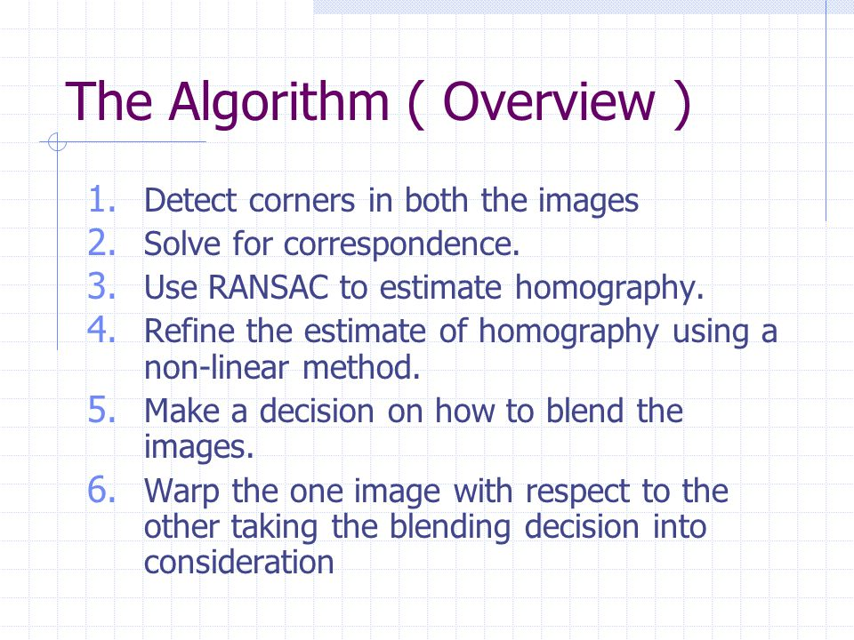 The Algorithm ( Overview )