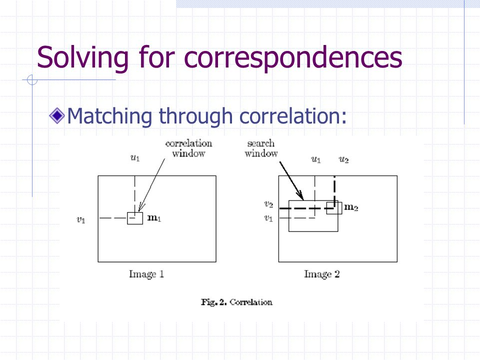 Solving for correspondences