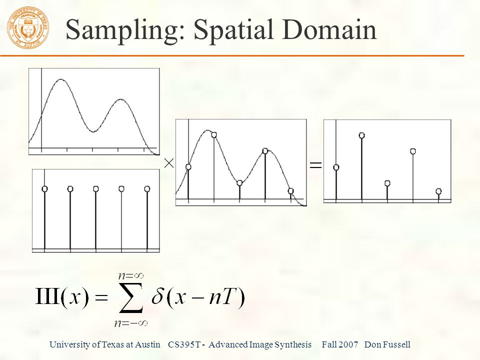 Sampling: Spatial Domain