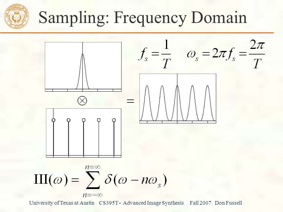 Sampling: Frequency Domain
