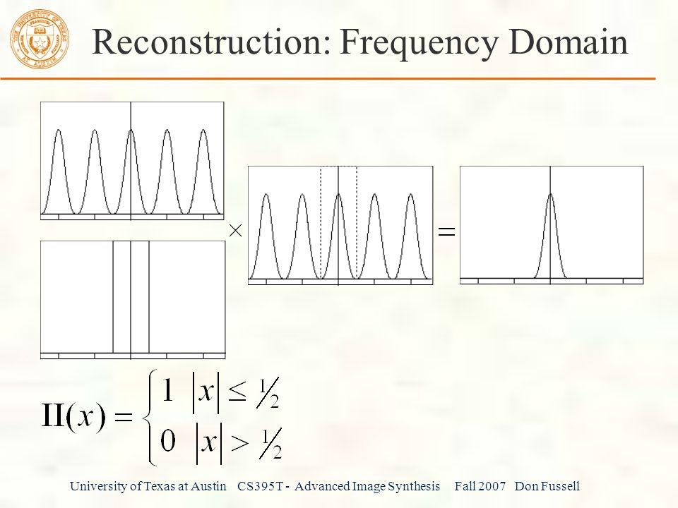 Reconstruction: Frequency Domain