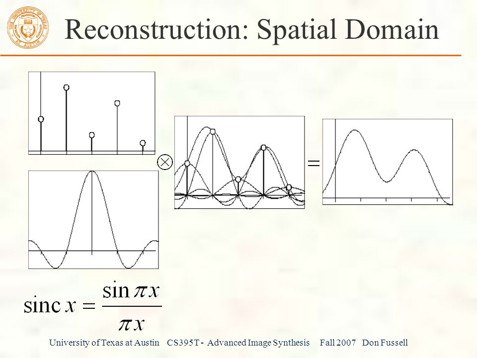 Reconstruction: Spatial Domain
