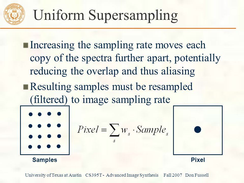 Uniform Supersampling