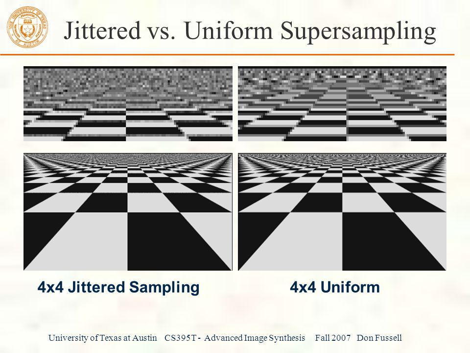 Jittered vs. Uniform Supersampling