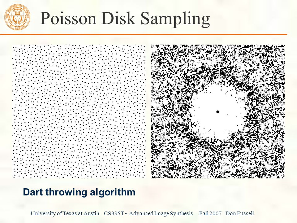 Poisson Disk Sampling Dart throwing algorithm