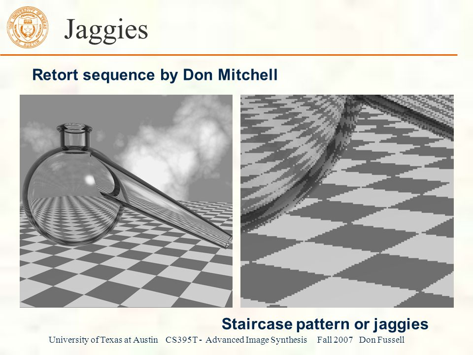 Jaggies Retort sequence by Don Mitchell Staircase pattern or jaggies