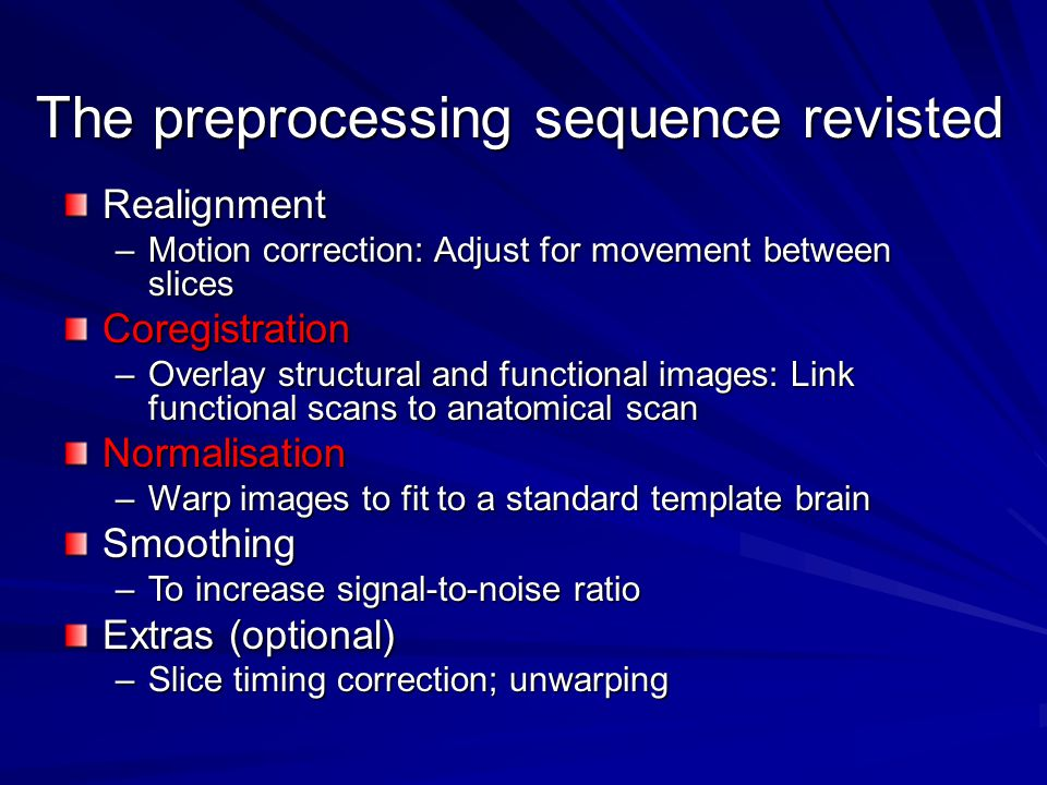 The preprocessing sequence revisted