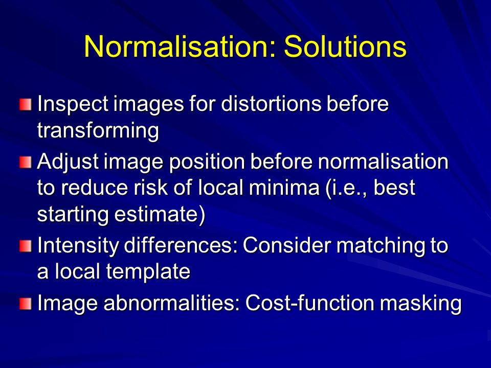 Normalisation: Solutions