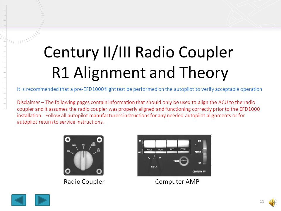 Century II/III Radio Coupler R1 Alignment and Theory