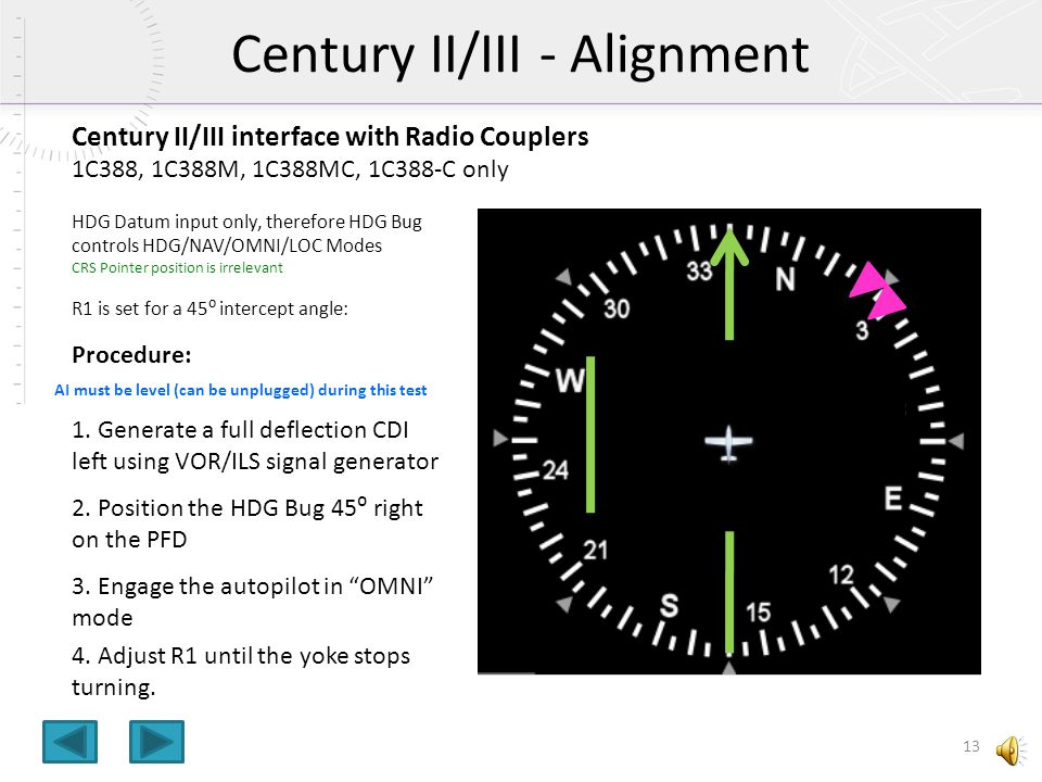 Century II/III - Alignment