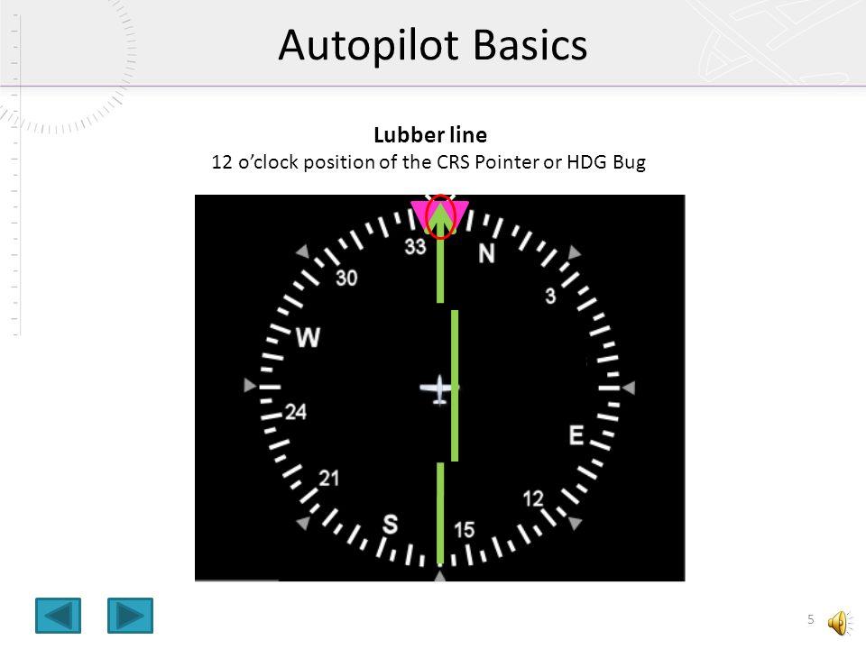 Autopilot Basics Lubber line