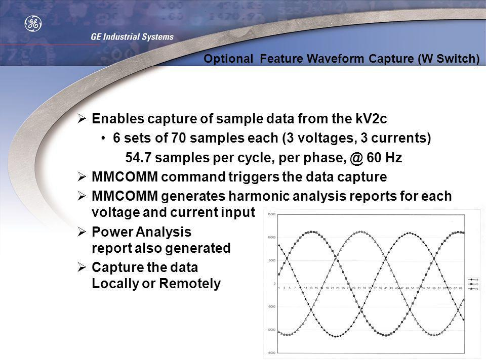 Enables capture of sample data from the kV2c