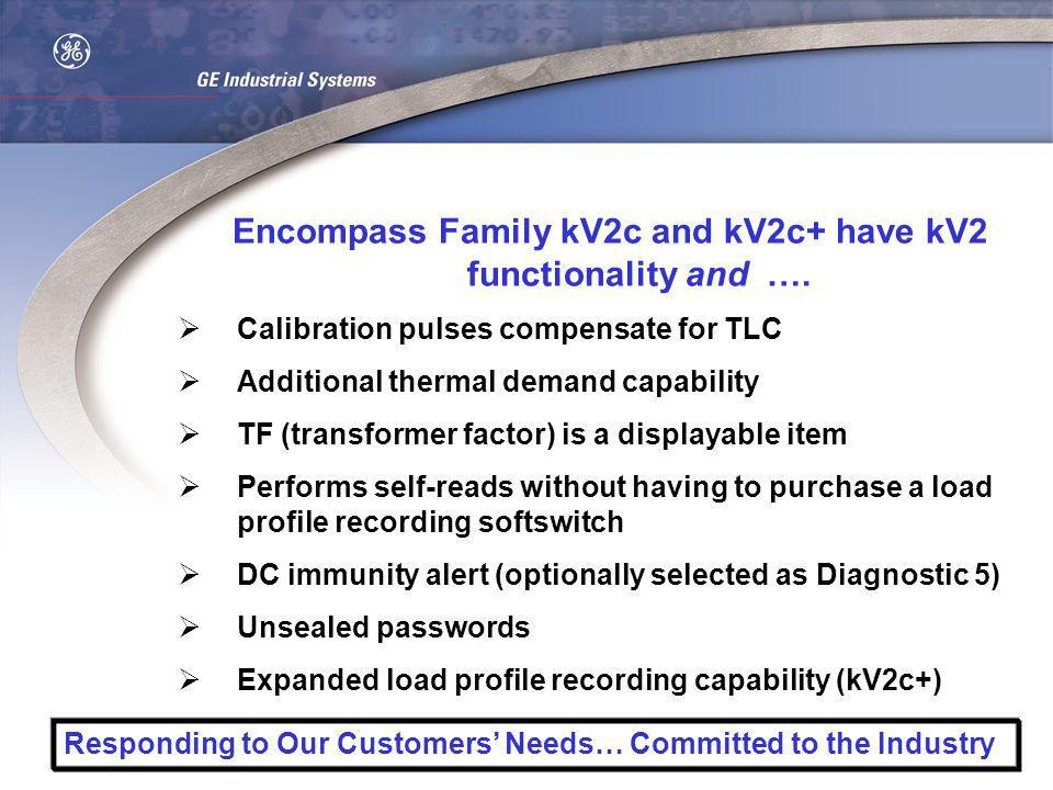 Encompass Family kV2c and kV2c+ have kV2 functionality and ….