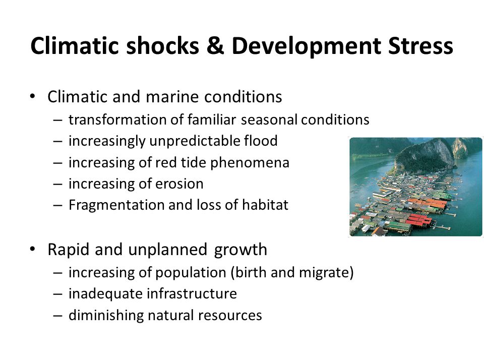 Climatic shocks & Development Stress