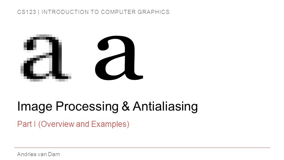 Image Processing & Antialiasing