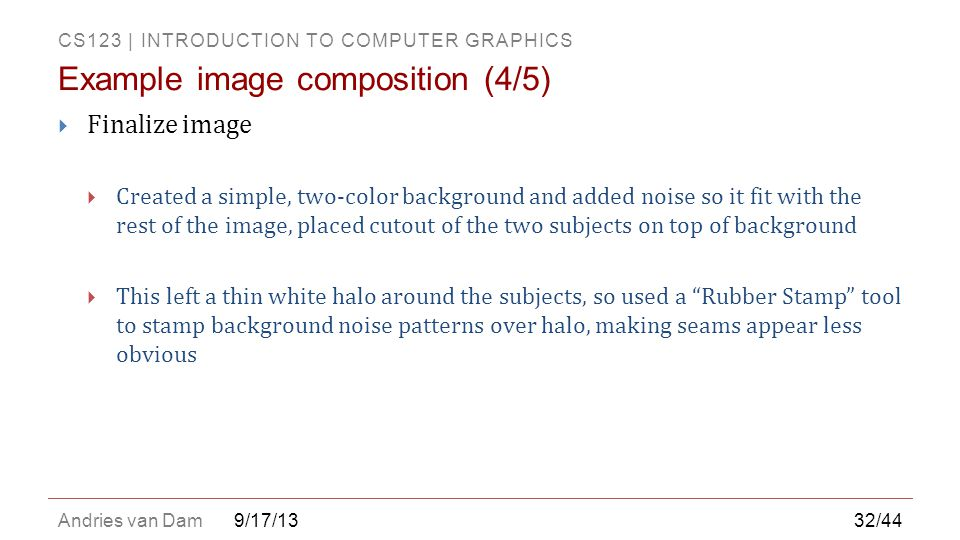 Example image composition (4/5)
