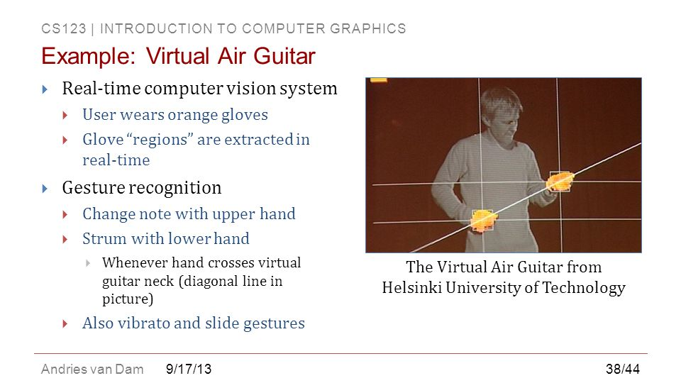 Example: Virtual Air Guitar
