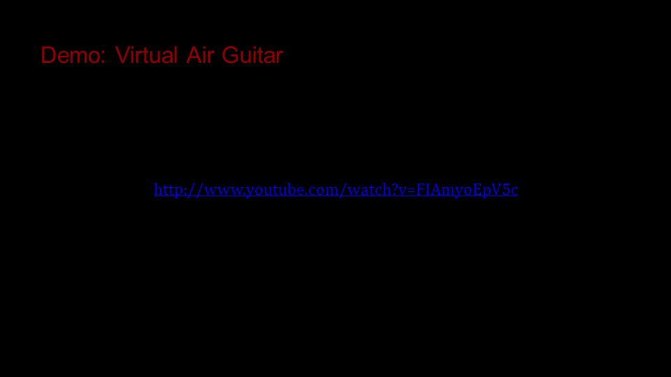 Demo: Virtual Air Guitar