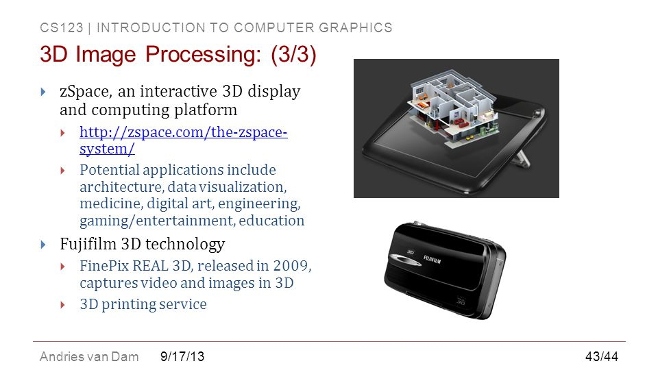 3D Image Processing: (3/3)