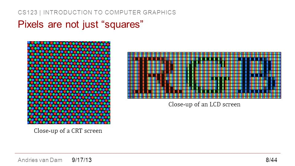 Pixels are not just squares
