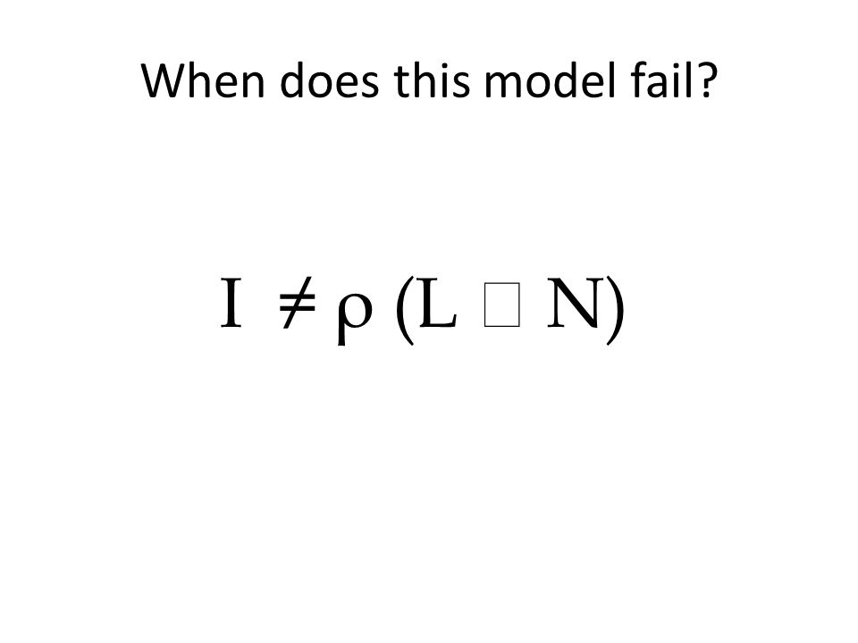 When does this model fail