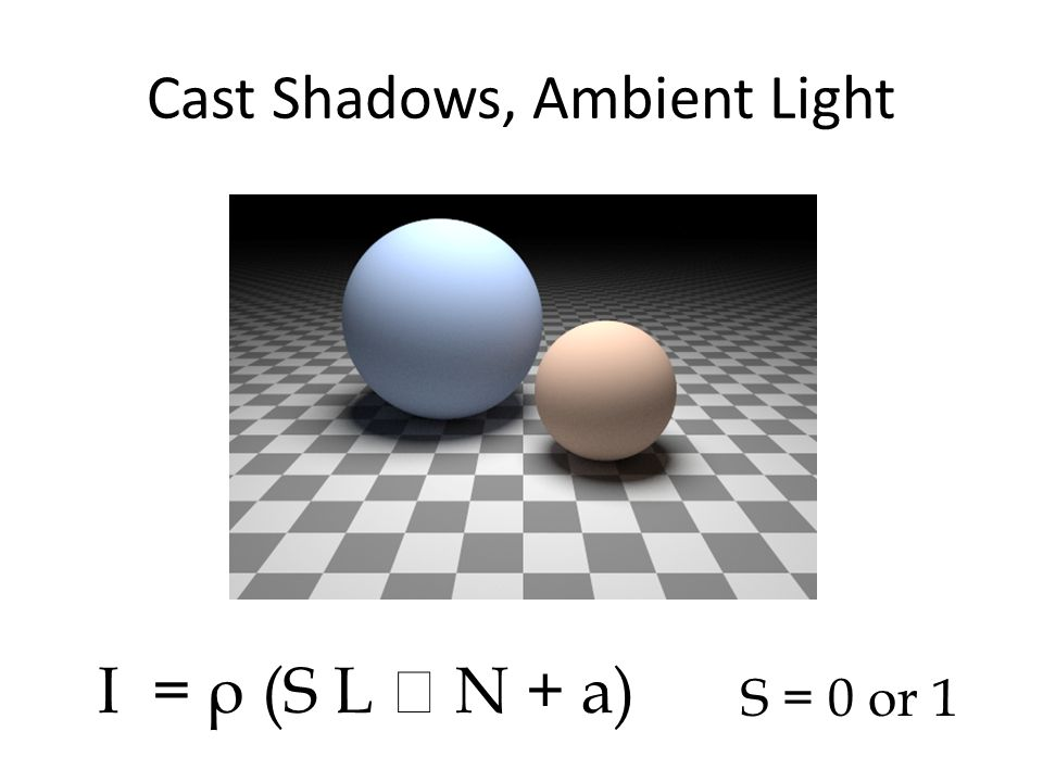 Cast Shadows, Ambient Light