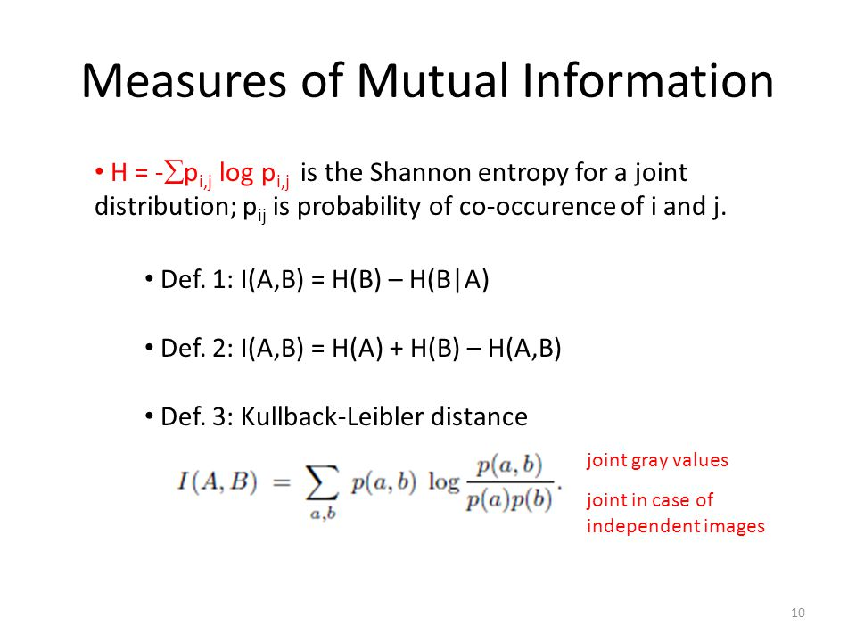 Measures of Mutual Information