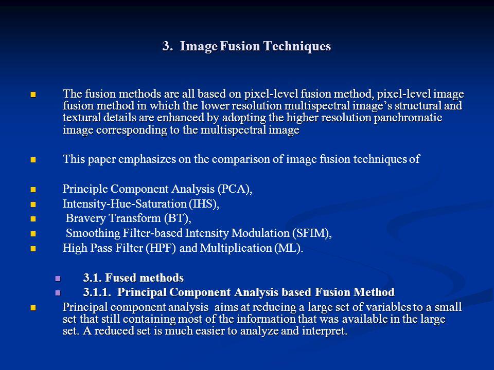 3. Image Fusion Techniques