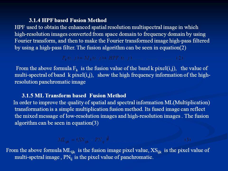 3.1.4 HPF based Fusion Method