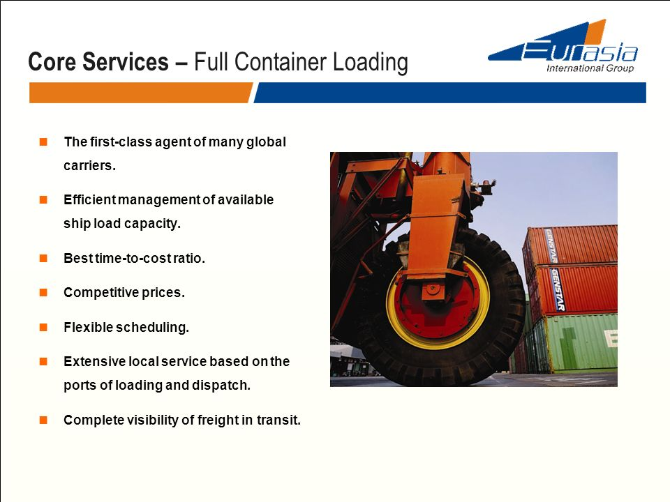 Core Services – Full Container Loading