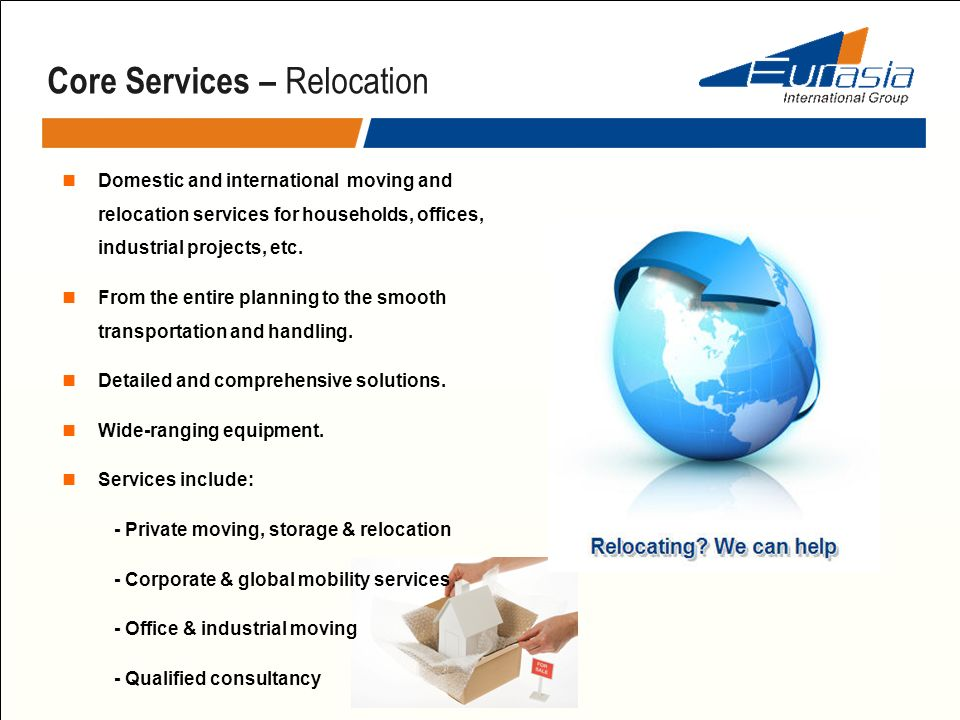 Core Services – Relocation