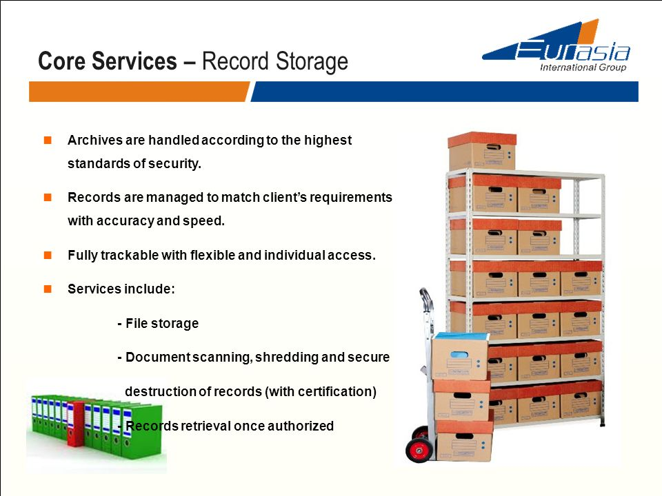Core Services – Record Storage