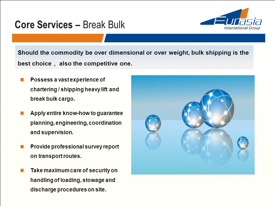 Core Services – Break Bulk